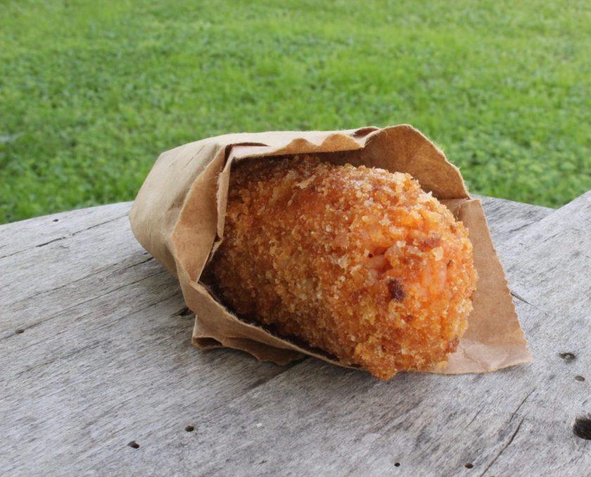 Luscious supplì al telefono: deep fried stuffed rice balls