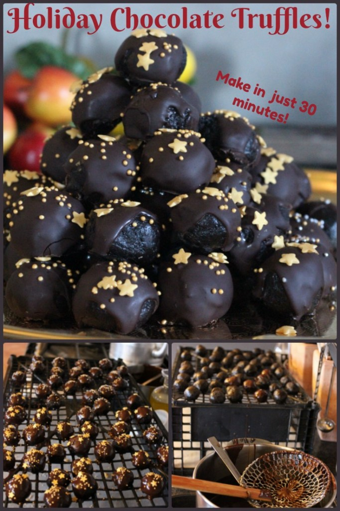 Holiday Chocolate Truffles: make in 30 minutes...you'll be shocked when you see what the ingredients are!
