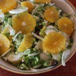 Shaved fennel, orange and olive salad