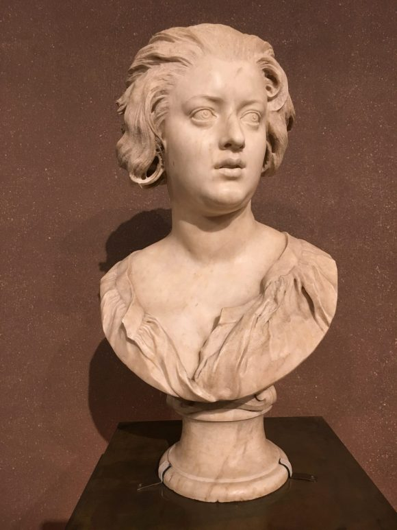 Bust of Costanza Piccolomini, Bernini exhibit at the Galleria Borghese in Rome, January 2018