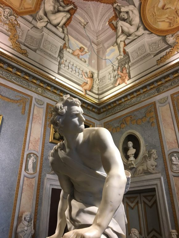David, Bernini exhibit at the Galleria Borghese in Rome, January 2018