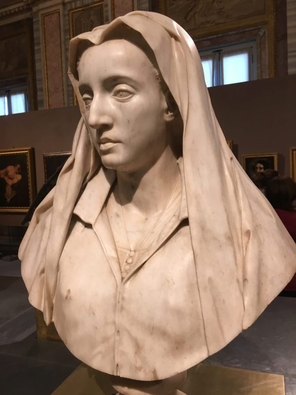 Bust of Diana De Paulo Roscioli, Bernini exhibit at the Galleria Borghese in Rome, January 2018
