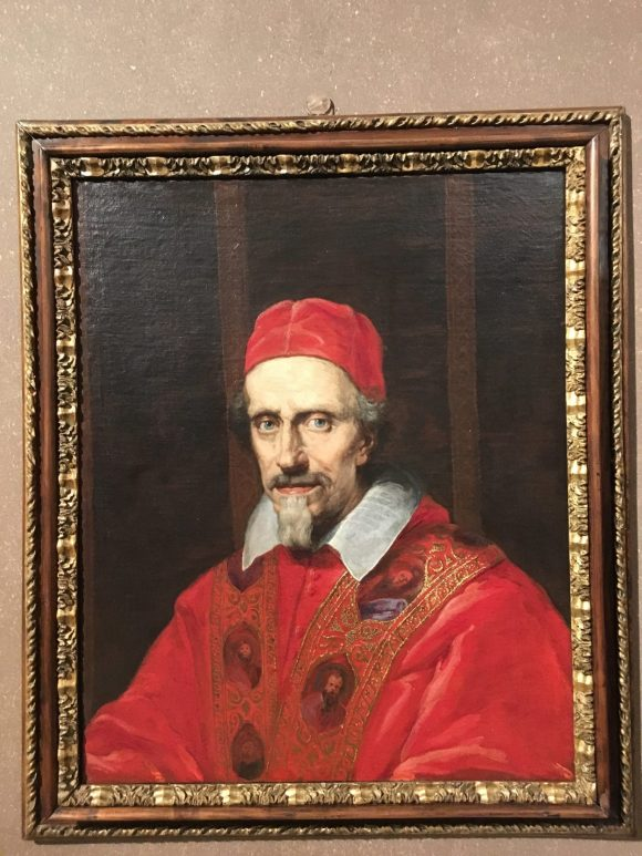 Portrait of Pope Clement IX, Bernini exhibit at the Galleria Borghese in Rome, January 2018