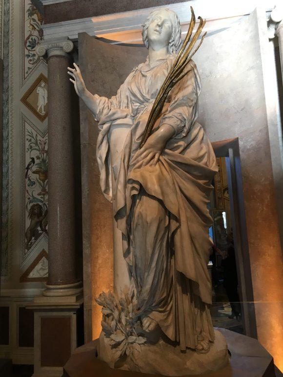 Santa Bibiana, 1624-1626, Bernini exhibit at the Galleria Borghese in Rome, January 2018