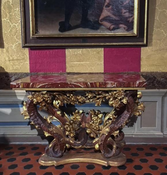 Table designed by Bernini, Palazzo Chigi Ariccia