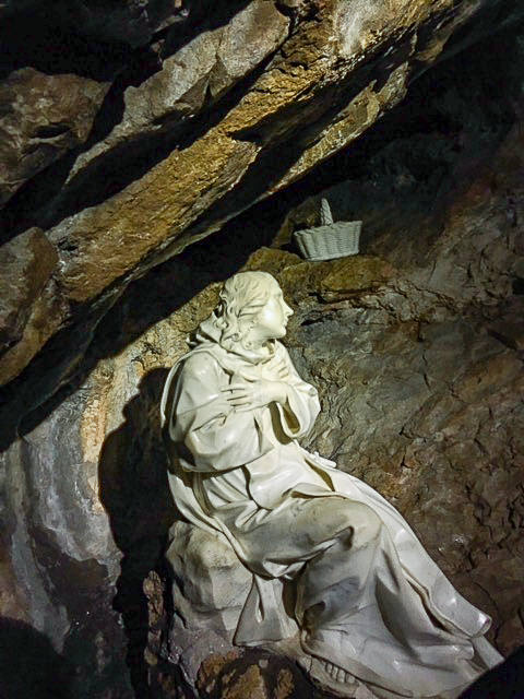 Saint Benedict Monastery Subiaco Sacro Speco sculpture of Saint Benedict by Bernini disciple Antonio Raji