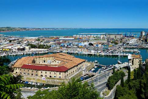 An aerial view of Ancona in Le Marche