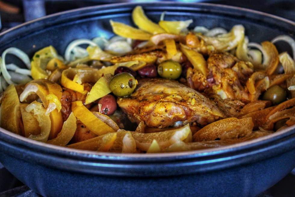 Chicken tagine with preserved lemons is a beautifully aromatic dish and a perfect way to cook chicken