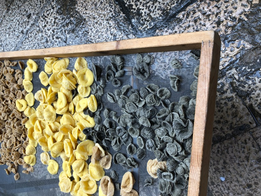 Grano Arso Orecchiette, made from charcoal-colored toasted flour