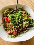 Farro, Gorgonzola, Arugula & Tomatoes