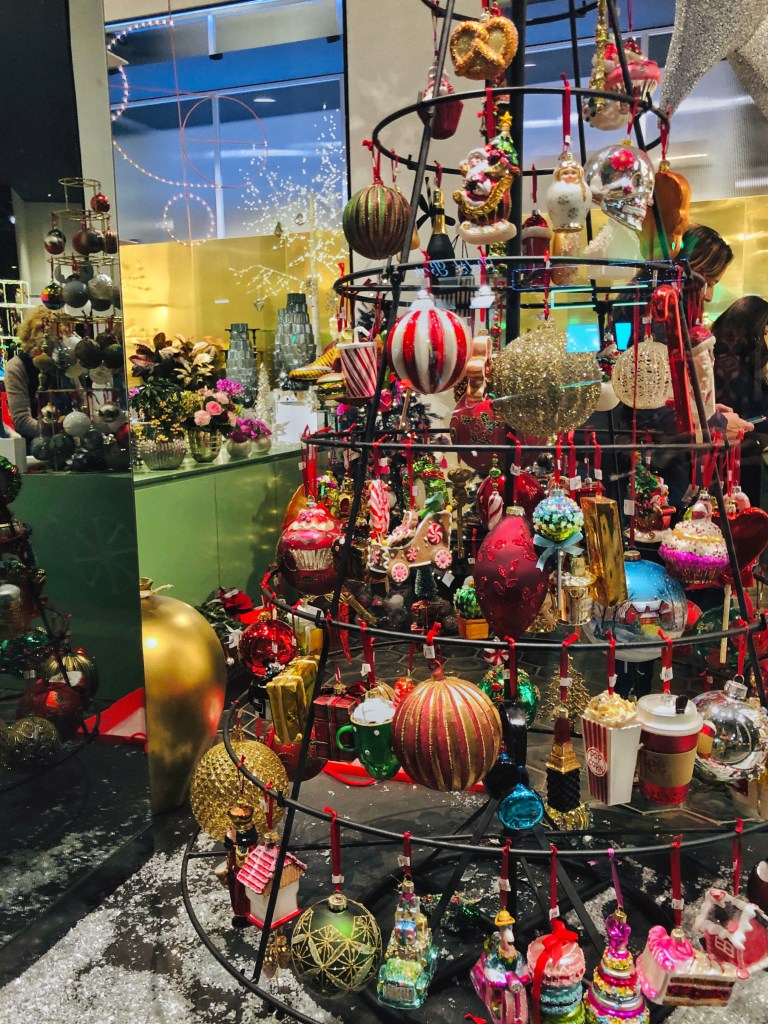 Shop window in Rome during Christmas season 2019