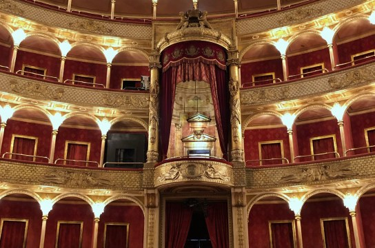 The red and gold splendor of the Rome Opera House