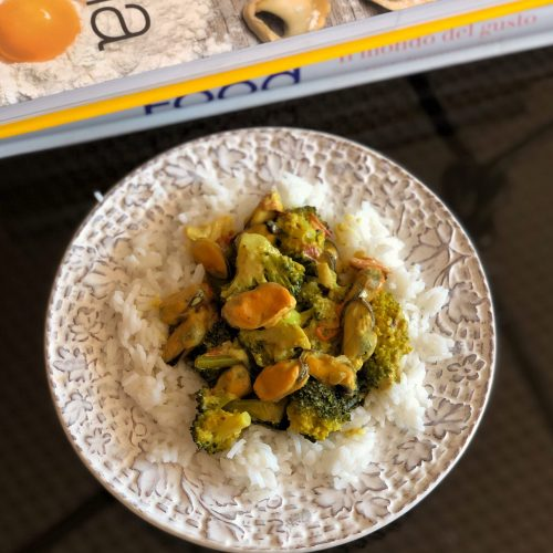 Broccoli and Mussel Curry, fragrant and delicious!