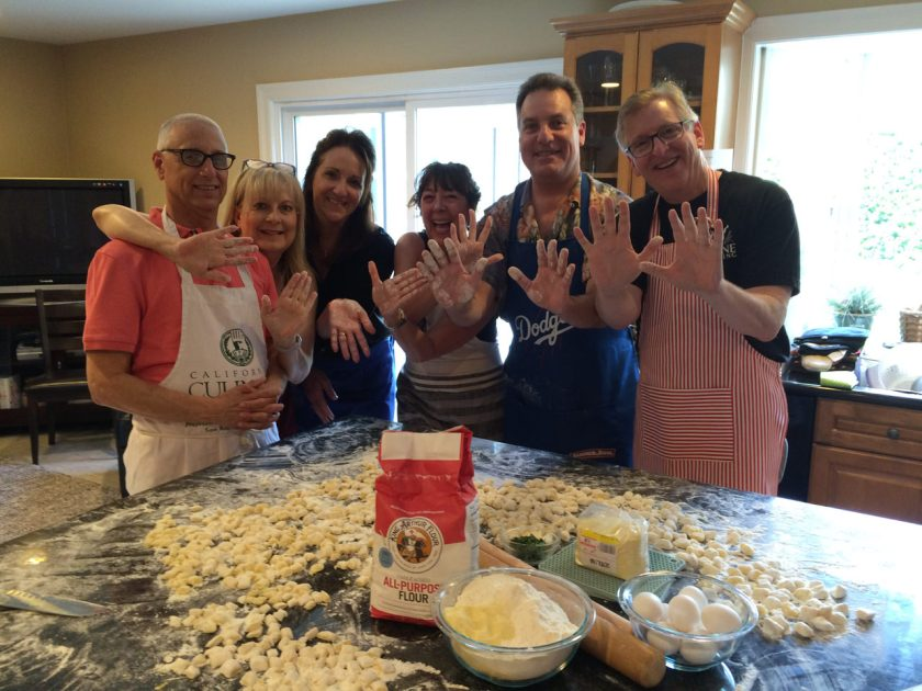 Making gnocchi in a Flavor of Italy Cooking Class
