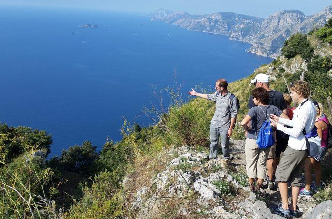 View from an Amalfi coast mountain top hike