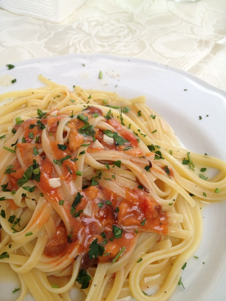 Pasta with fresh sea urchins is a delectable Sicilian specialty