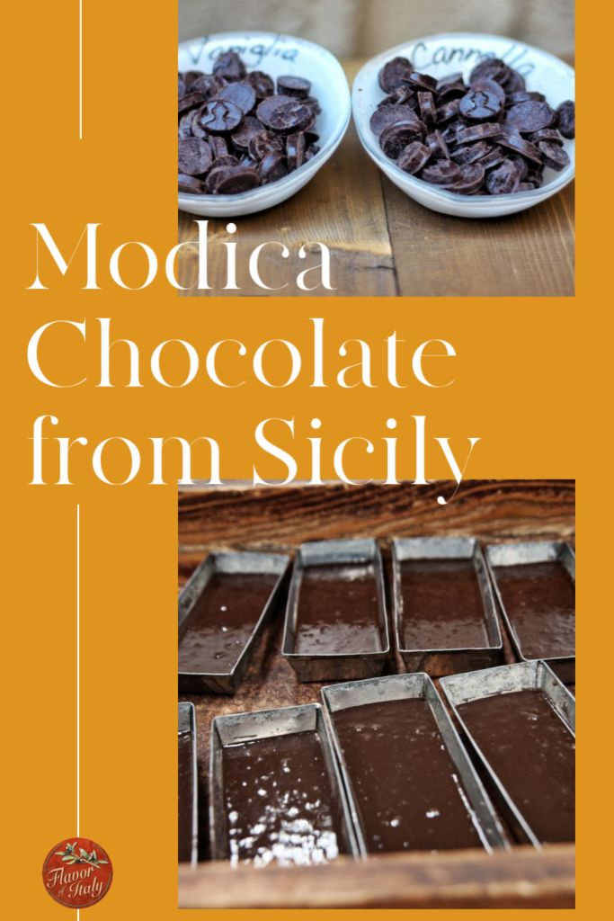Probably the oldest chocolate in all of Italy is the least known but it's the most historic and unique of all: chocolate from Modica, Sicily. This chocolate is used in many recipes both savory and sweet and are part of Sicily's rich cuisine.
