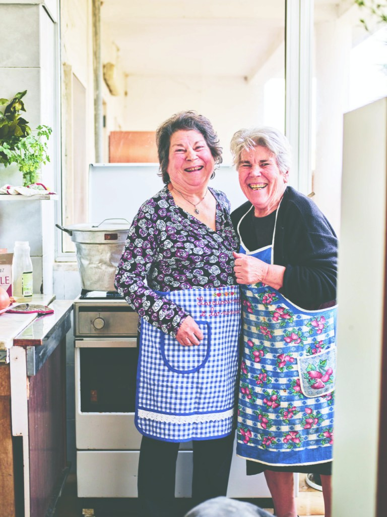 Italian kitchens are usually quite small but still these joyful women manage to work their pasta magic all the same