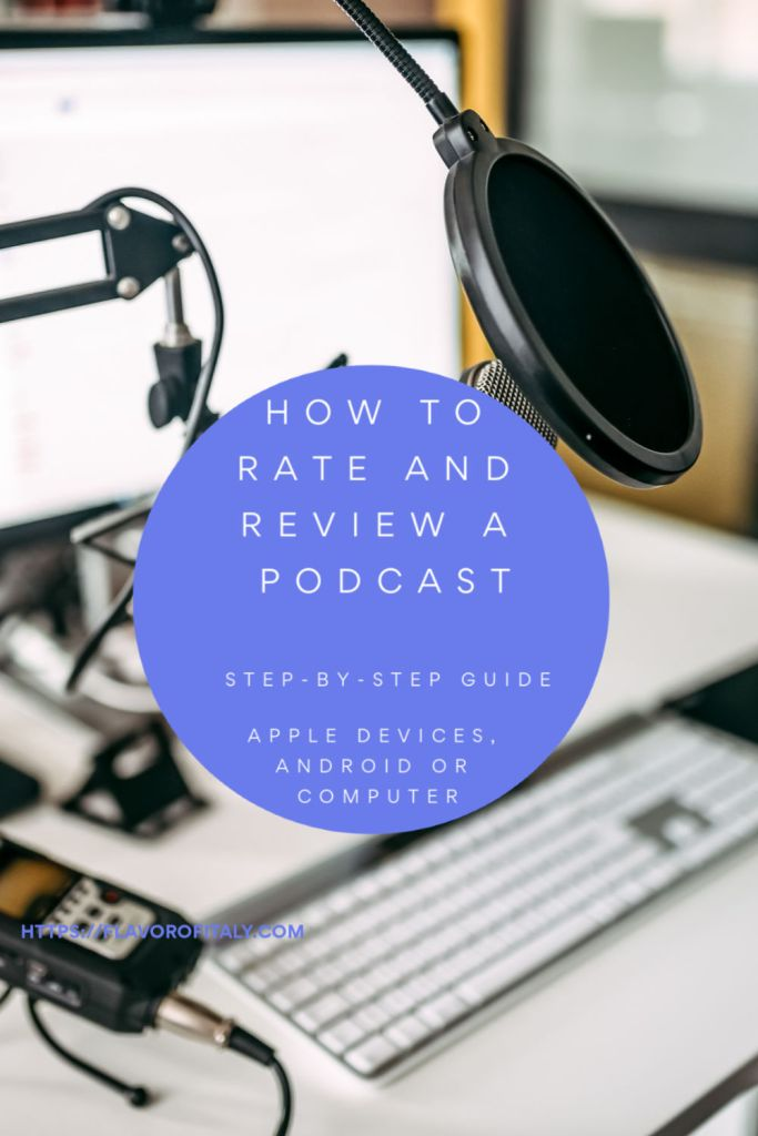 How to rate and review a podcast in a few easy steps!