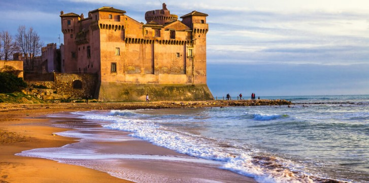 Santa Severa Castle north of Rome