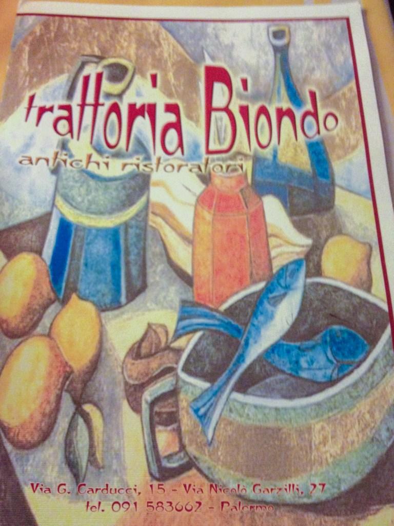 Trattoria Biondo in Palermo is fabulous