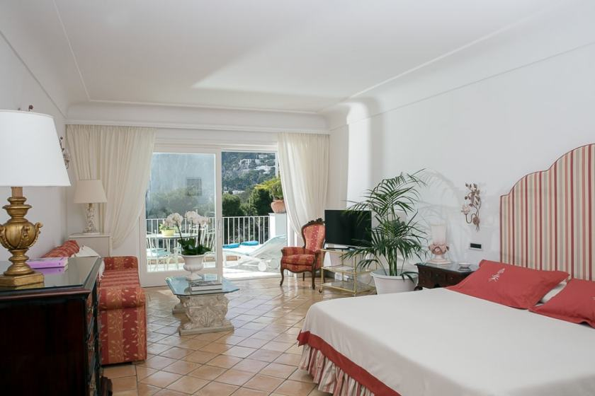 Guest rooms at Villa Brunella are huge, beautiful and all with a gorgeous view