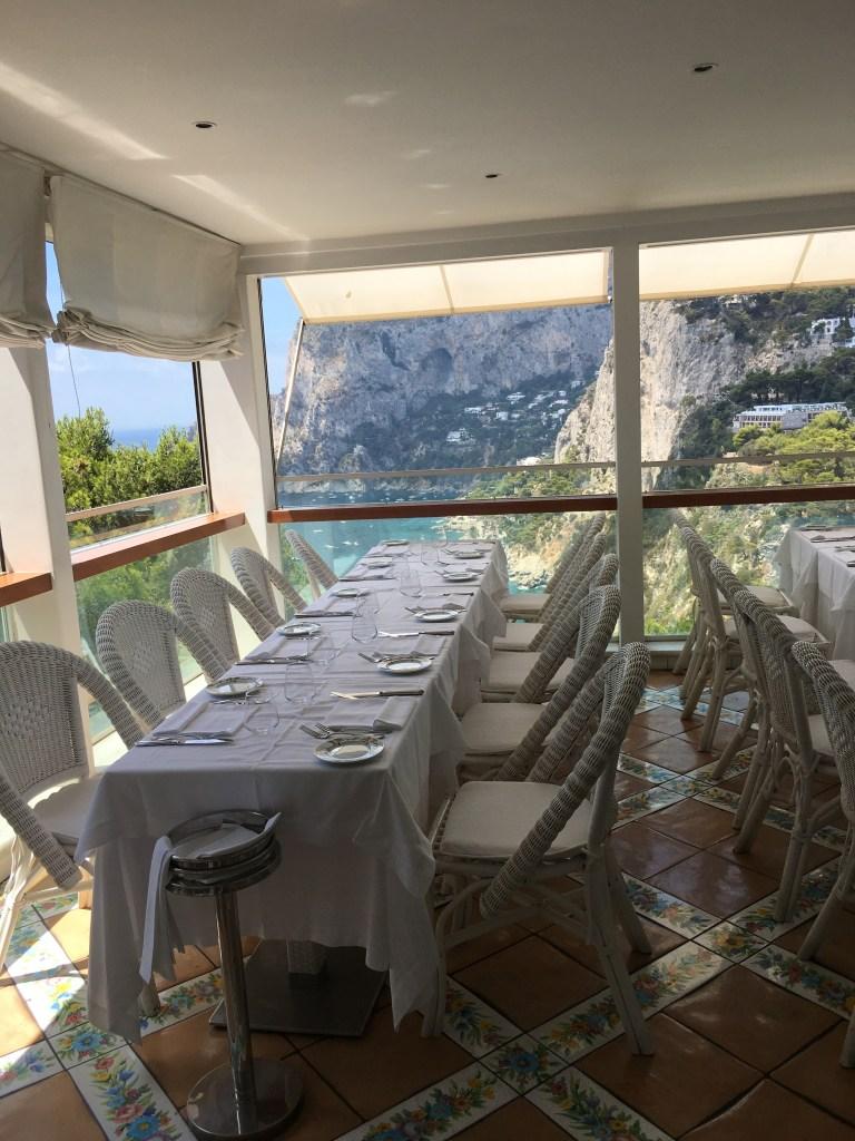 Gorgeous views from the Villa Brunella restaurant