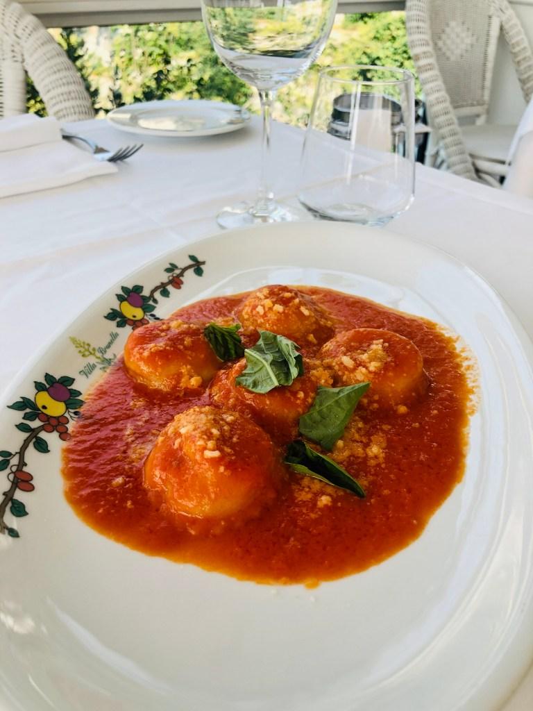 Delicious Ravioli Caprese at Villa Brunella