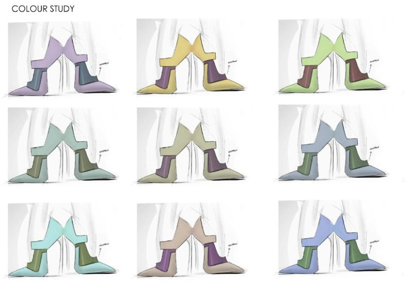 A study in Italian luxury shoe design color by Alessio Spinelli