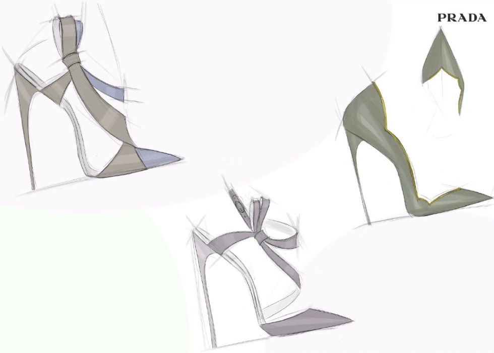 Gorgeous high heel Italian shoe design