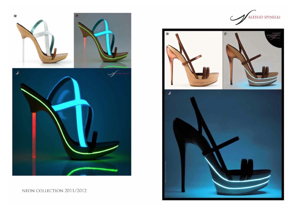 Luxury Italian shoe designer Alessio Spinelli created this Neon Collection