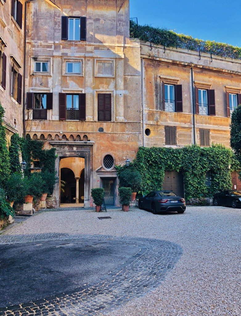 The exquisite historic Palazzo Taverna is located right in the very heart of Rome