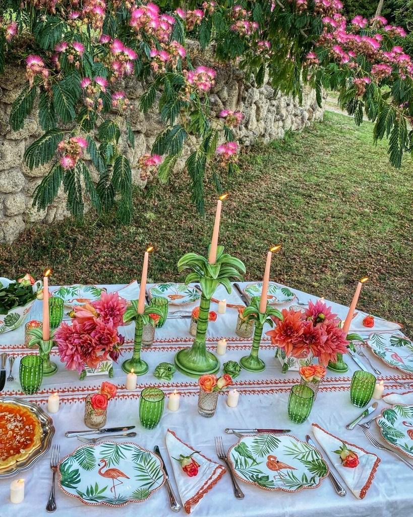 Luxury Italian tableware created by Violante Guerrieri Gonzaga