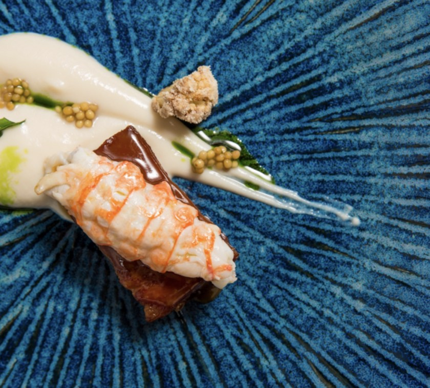 One of Michelin Star Chef Cristina Bowerman's dishes at Rome's Glass Hosteria