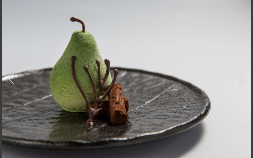 Cristina Bowerman, Michelin Star Chef at Rome's Glass Hosteria, takes pears and chocolate to a new level