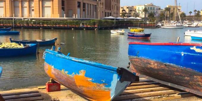 The Bari Seaport in Puglia where you can sample fresh seafood daily