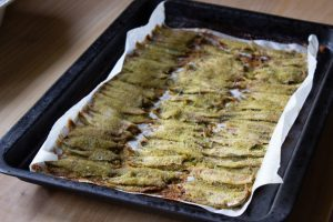Baked Fresh Anchovies just out of oven