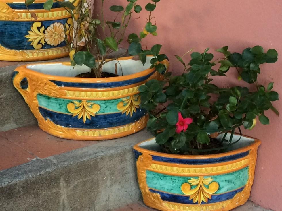 Hand-painted Italian ceramic vases from Vietri
