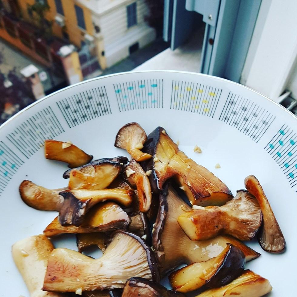 Pan fried cardoncelli
