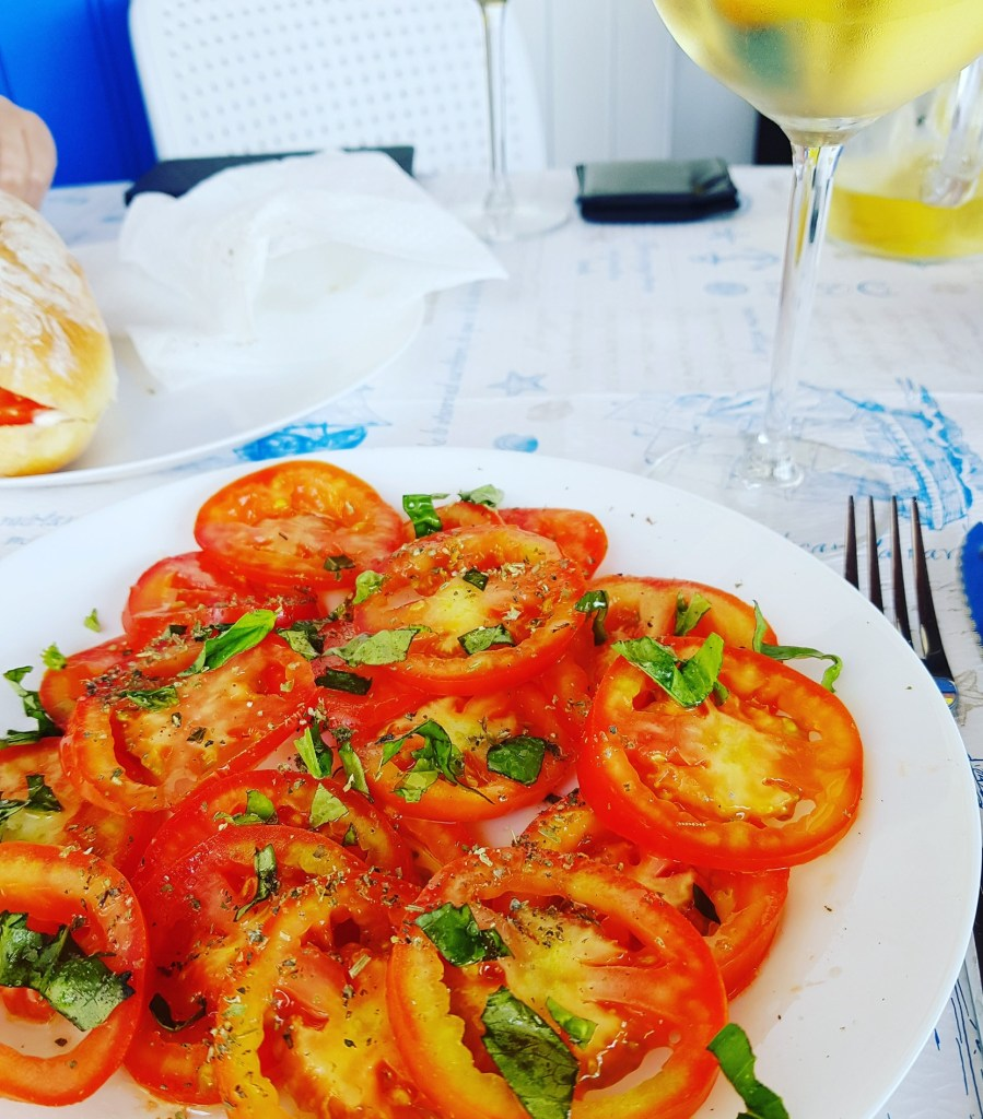 Fresh tomato salad by Kate McElwee
