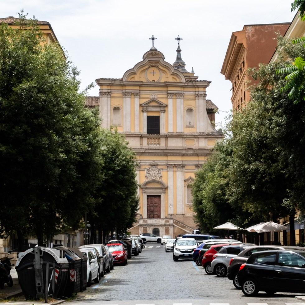 Santa Maria delle Grazie alle Fornaci church in Rome Cavalleggeri neighborhood