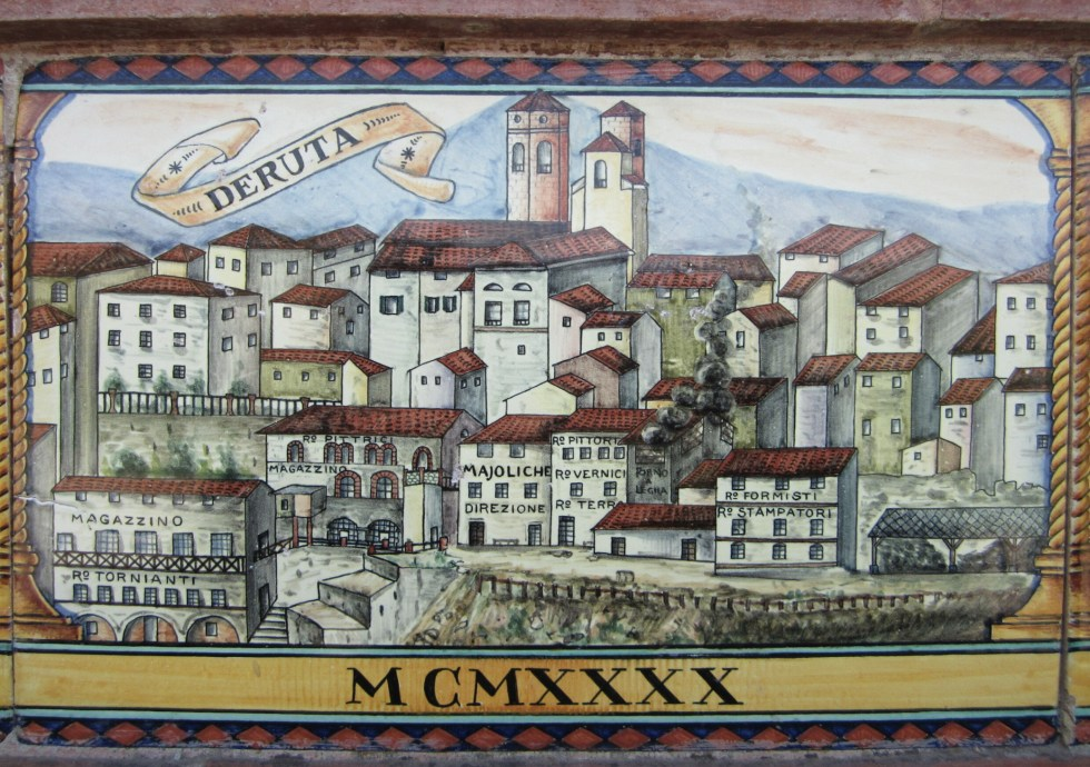 Deruta wall tile that reflects the history of the city