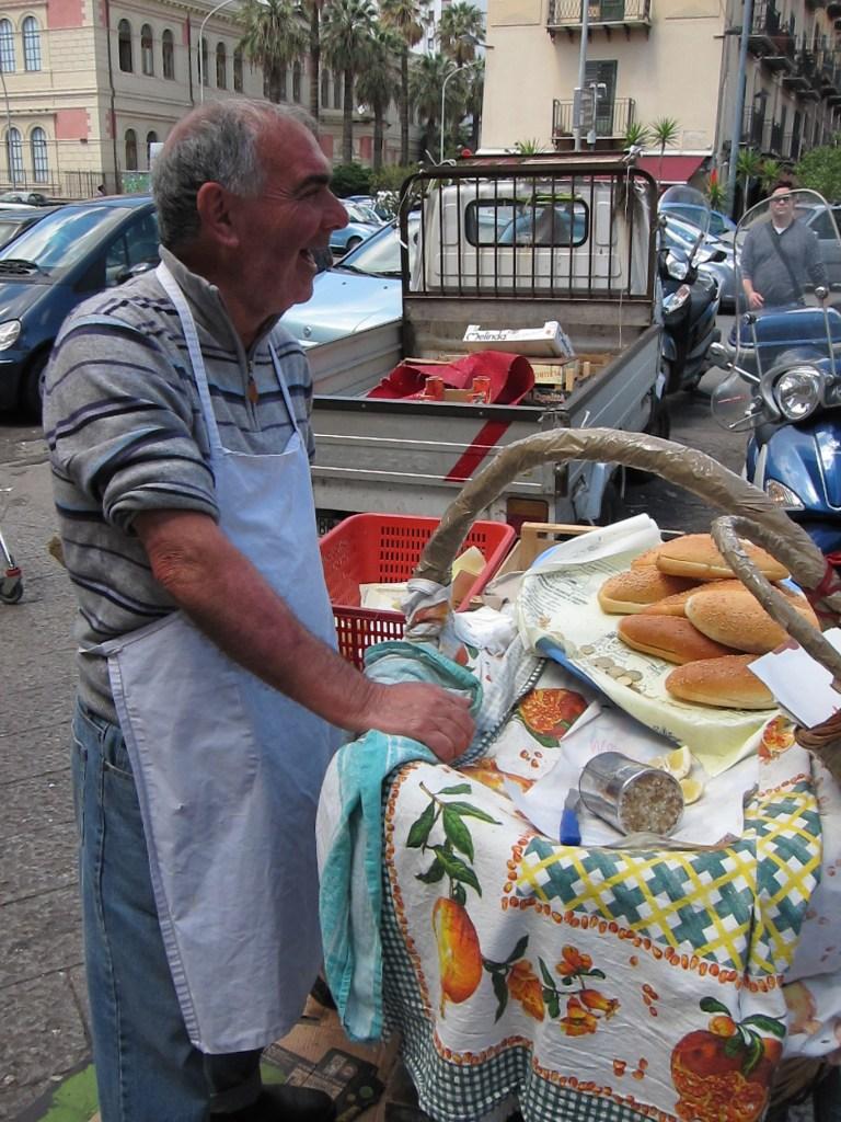 sandwich Street vendor in Palermo Italy