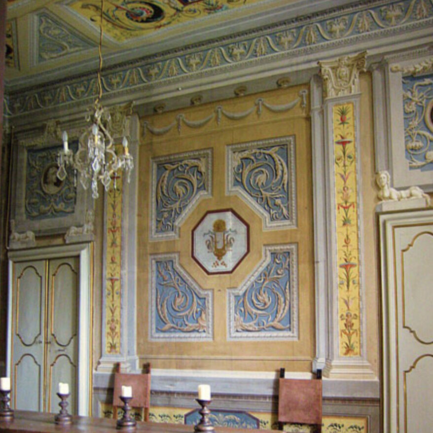 View within Palazzo Farrattini ballroom