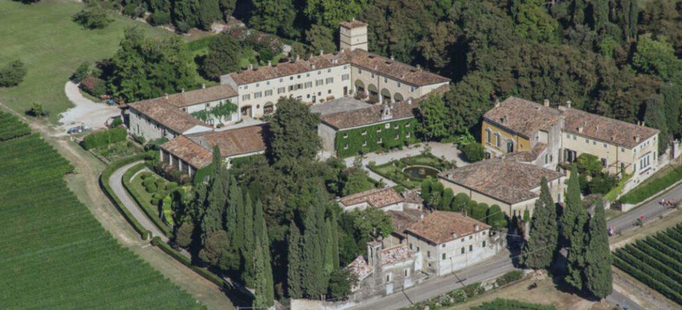 Aerial view Possessione Casal dei Ronchi winery