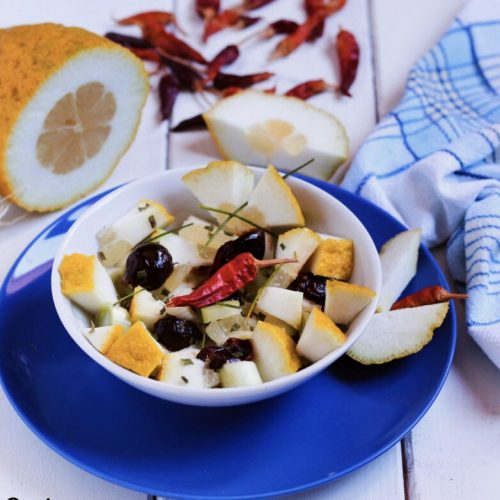 A delicious citron salad
