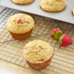 healthier strawberry banana muffins | flavor the moments