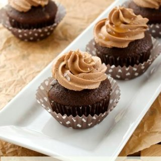 Chocolate Cupcakes with Salted Caramel Chocolate Frosting