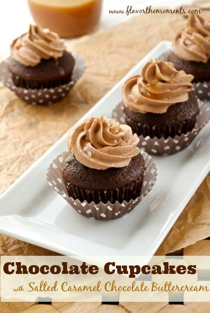 chocolate cupcakes with salted caramel chocolate buttercream1