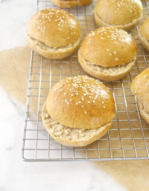 honey whole wheat burger buns4 | flavorthemoments.com
